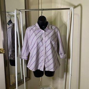 COVINGTON Stripe Button Up Dress Shirt